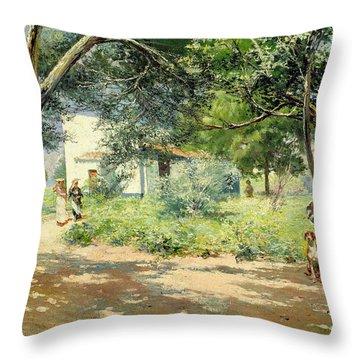 Summer  Throw Pillow by Manuel Garcia y Rodriguez
