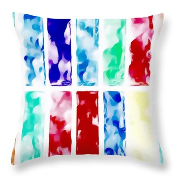 Throw Pillow featuring the painting Summer by Mark Taylor