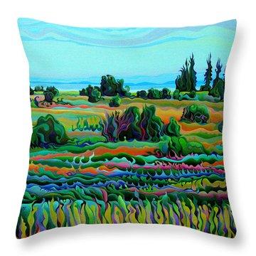 Summer Meadow Dance Throw Pillow