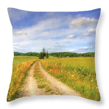 Summer Meadows Throw Pillow
