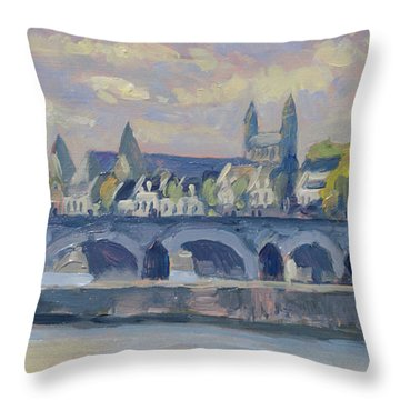 Summer Meuse Bridge, Maastricht Throw Pillow