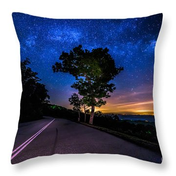 Summer Milky Way Throw Pillow