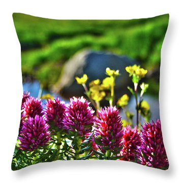 Throw Pillow featuring the photograph Summer Morning Blossoms by Marie Leslie