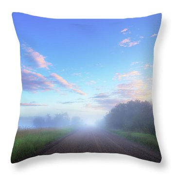 Summer Morning In Alberta Throw Pillow by Dan Jurak