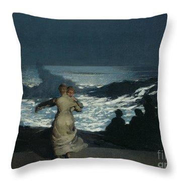 Summer Night Throw Pillow by Winslow Homer