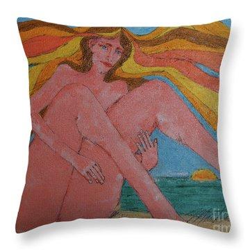 Summer Ocean Breeze  Throw Pillow