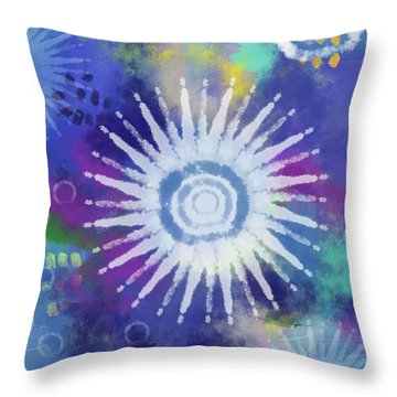 Summer Of Love 2- Art By Linda Woods Throw Pillow