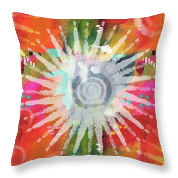 Summer Of Love- Art By Linda Woods Throw Pillow