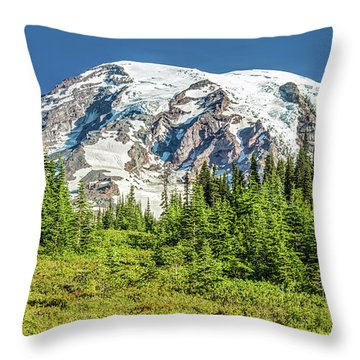 Throw Pillow featuring the photograph Summer On Mount Rainier by Pierre Leclerc Photography
