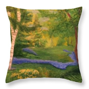 Summer On Orcas Island Throw Pillow