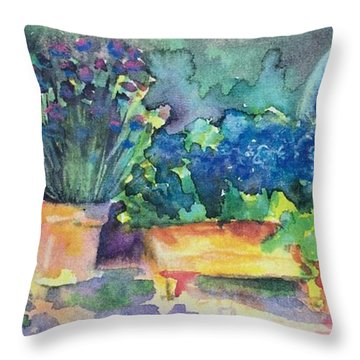 Summer On The Porch Throw Pillow
