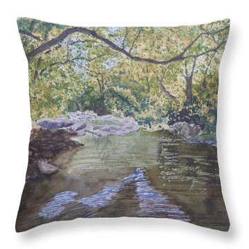 Summer On The South Tow River Throw Pillow
