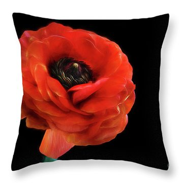 Throw Pillow featuring the photograph Summer Orange by Darren Fisher