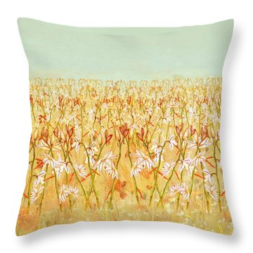 Summer Outbreak Throw Pillow