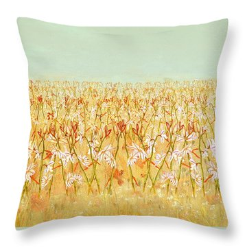 Throw Pillow featuring the painting Summer Outbreak by Angeles M Pomata