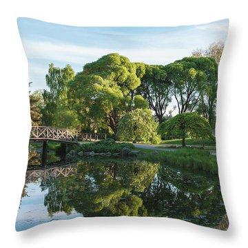 Summer Park Throw Pillow
