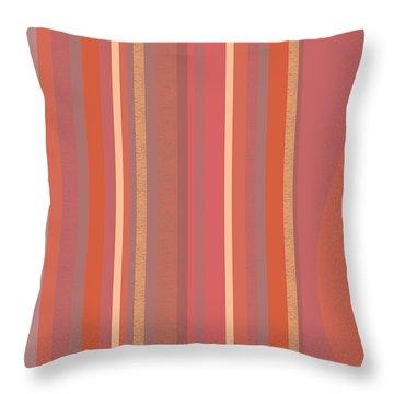 Summer Peach Throw Pillow