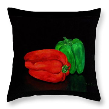 Summer Peppers Throw Pillow