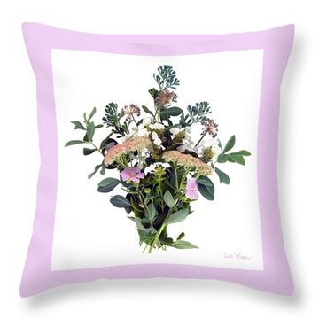 Summer Perrenials Throw Pillow