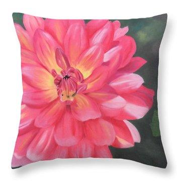 Summer Pinks Throw Pillow