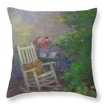 Summer Porch And Rocker Throw Pillow