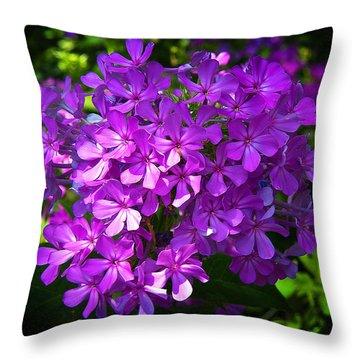 Summer Purple Throw Pillow