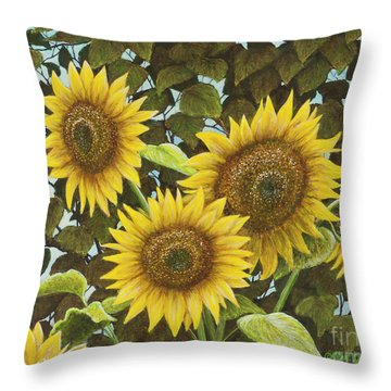 Summer Quintet Throw Pillow