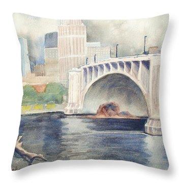 Summer Rain Throw Pillow by Marilyn Jacobson