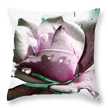 Summer Rain Throw Pillow by Will Borden