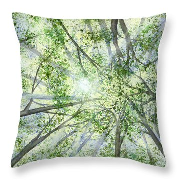 Summer Rays Throw Pillow