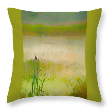 Summer Reeds Throw Pillow