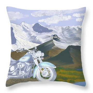 Throw Pillow featuring the drawing Summer Ride by Terry Frederick