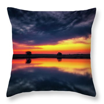Throw Pillow featuring the photograph Summer Rises by John De Bord