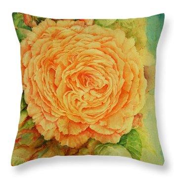 Summer Rose Throw Pillow by Rachel Lowry