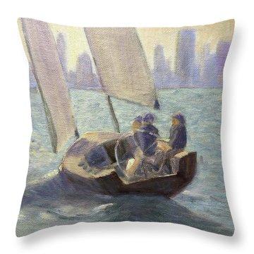 Summer Sail Throw Pillow