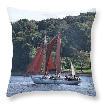 Summer Sailing In Lunenburg Throw Pillow