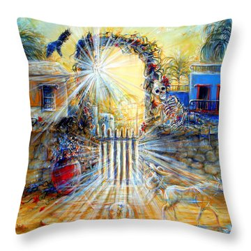 Throw Pillow featuring the painting Summer Sanity II by Heather Calderon