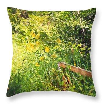 Summer Scene Throw Pillow by Susan Crossman Buscho
