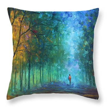 Summer Scent Throw Pillow by Leonid Afremov