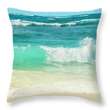 Throw Pillow featuring the photograph Summer Sea by Sharon Mau
