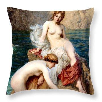 Summer Seas 1912 Throw Pillow