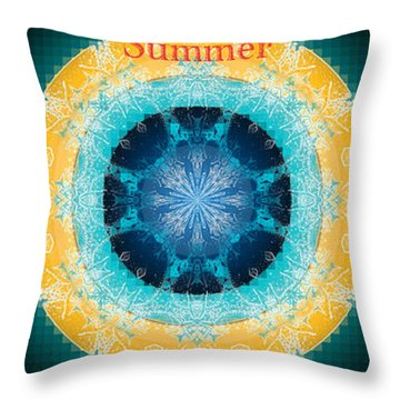 Summer Season Throw Pillow