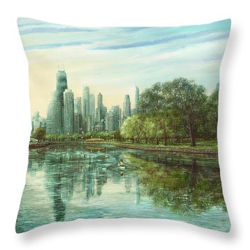 Summer Serenity Throw Pillow by Doug Kreuger
