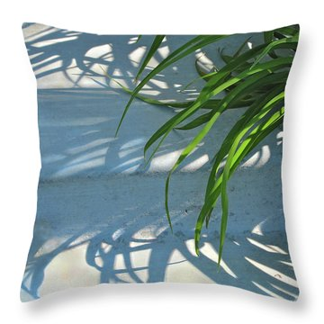 Throw Pillow featuring the photograph Summer Shadows by Nancy Lee Moran