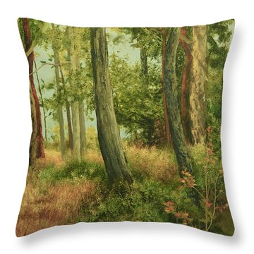 Summer, Sidney Spit Throw Pillow
