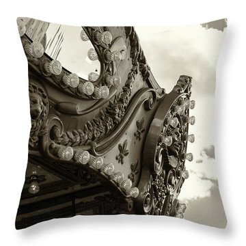 Summer Skies And Carousel Throw Pillow