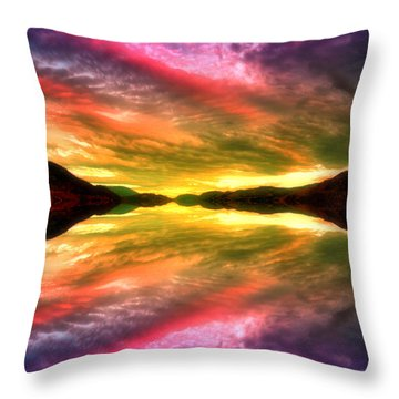 Summer Skies At Skaha Throw Pillow by Tara Turner