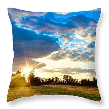 Summer Skies Throw Pillow