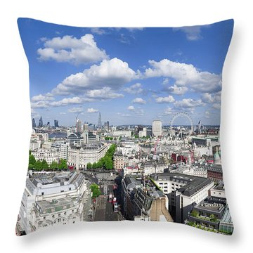 Summer Skies Over London Throw Pillow