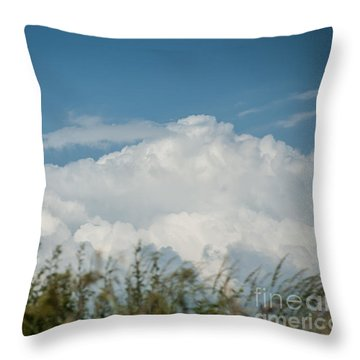 Throw Pillow featuring the photograph Summer Sky by Jan Bickerton